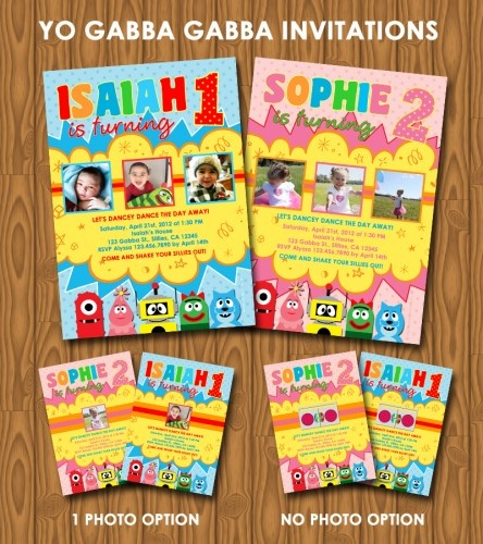 135 best yo gabba gabba! party ideas images on pinterest | yo, Wedding invitations