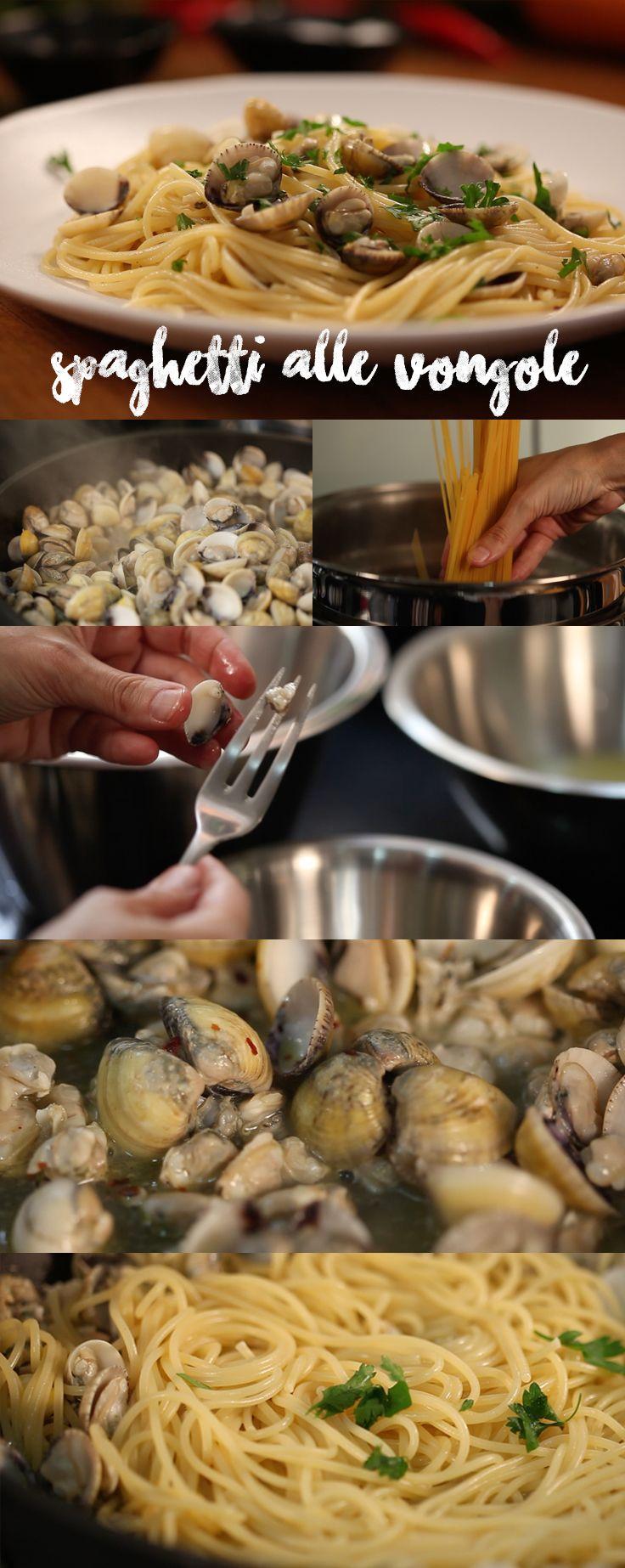 Spaghetti alle Vongole Spaghetti alle vongole é um clássico da culinária italiana e muito simples de fazer! Hora de chamar os amigos e abrir uma garrafa de Pinot Grigio geladíssima. Buon Appetito! Confira o passo-a-passo dessa receita no myyellowpages.com.br  LINK DA RECEITA: http://www.myyellowpages.com.br/spaghetti-alle-vongole/