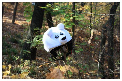 Polar bear helmet cover