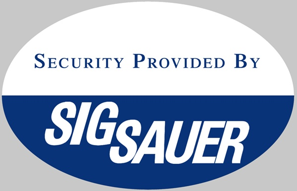 Security Provided by Sig Sauer.  Haha!  LOVE this.