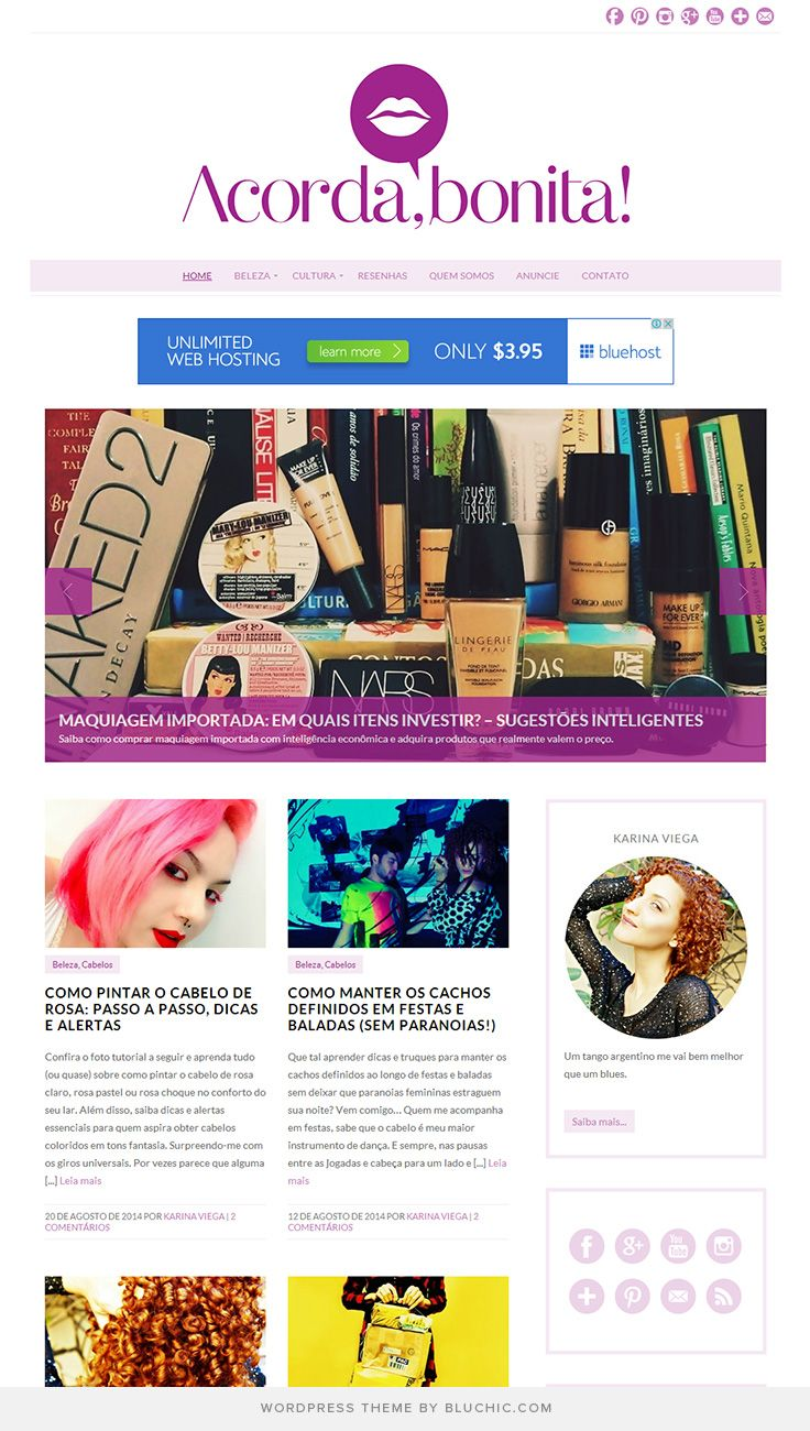 Use Isabelle Theme #WordPress. Shop at http://www.bluchic.com/shop/wordpress-themes/isabelle-theme