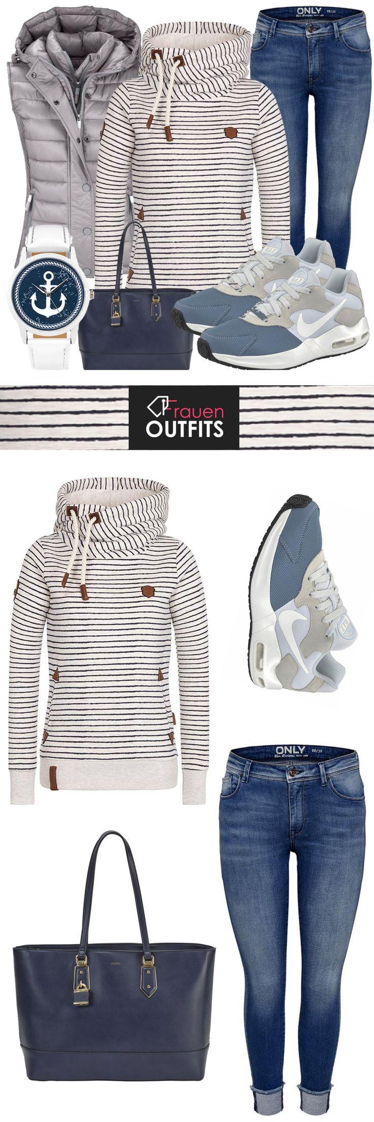 #freizeitoutfit #frauenoutfit #damenoutfit #casual #streetstyle #alltag #freizeit #sneaker #sportlich #jeans #pulli #damenmode #frauenmode #modefürfrauen #outfitinspiration #nike #naketano – FrauenOutfits.de