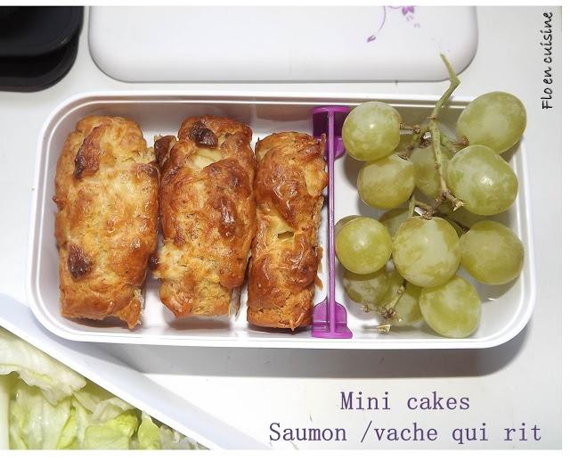 Mini cakes saumon/vache qui rit {Monbento.com} | Flo en cuisine