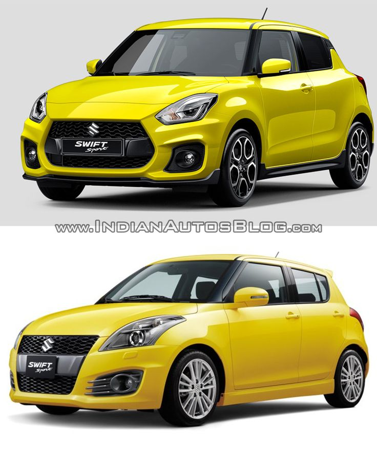 2018 #SuzukiSwift Sport vs. 2012 #Suzuki #SwiftSport – Photo comparison