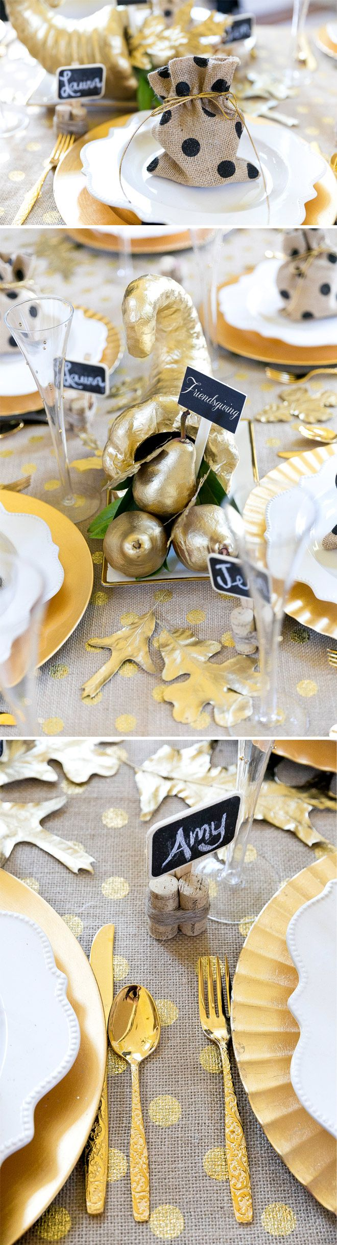 How to style a glam Friendsgiving Tablescape