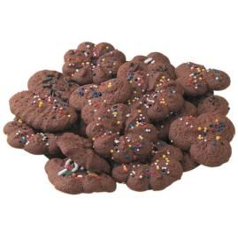 I love the regular spritz cookies, so I decided to try these chocolate ones. They were so good! I put Christmas sprinkles on them and added them to my cookie tray this last Christmas.