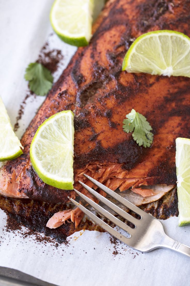 Baked Chililime Salmon