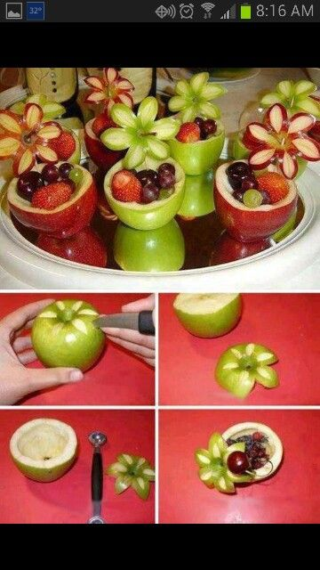Apple Flower Healthy dessert cups