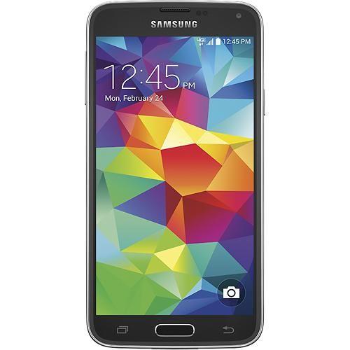Samsung - Galaxy S 5 4G LTE Cell Phone - Charcoal Black (Verizon Wireless) -