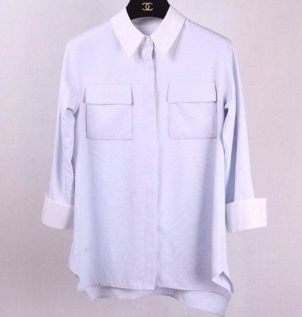 Lisa Blue Double Pocket Shirt $55.00 http://www.helloparry.com/collections/july-arrivals/products/lisa-blue-double-pocket-shirt