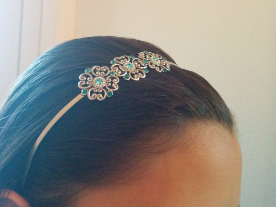 25% OFF,Delicate Flower Hair Band - Bridal Hair #weddings #accessories @EtsyMktgTool http://etsy.me/2fZBQqZ