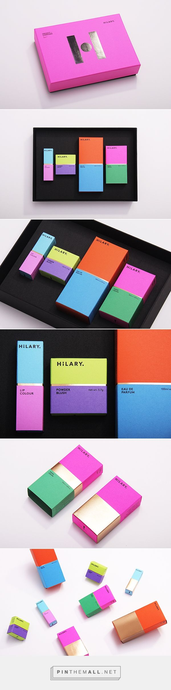 Fresh and bright colours for Hilary cosmetic packaging