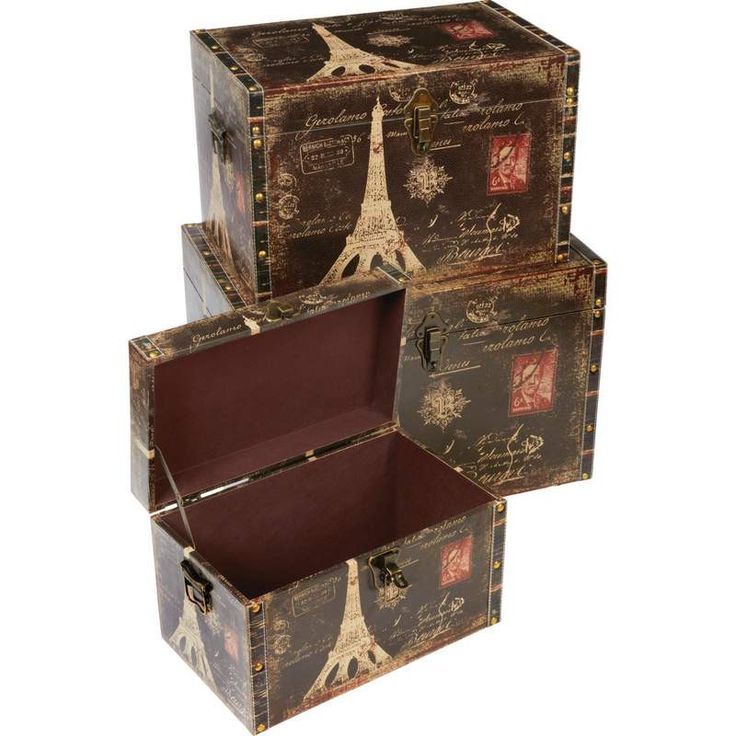 Kassel™ 3pc Decorative Storage Trunk Set