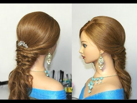 Bridal hairstyles for long hair. Romantic prom hairstyle tutorial - YouTube