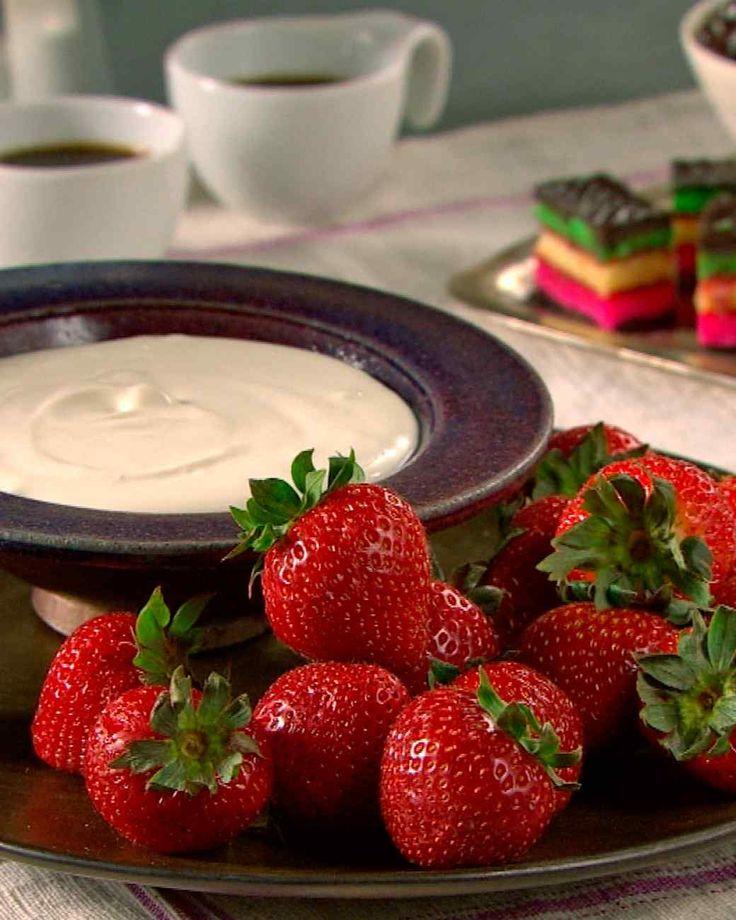 Strawberries and Sambuca Cream