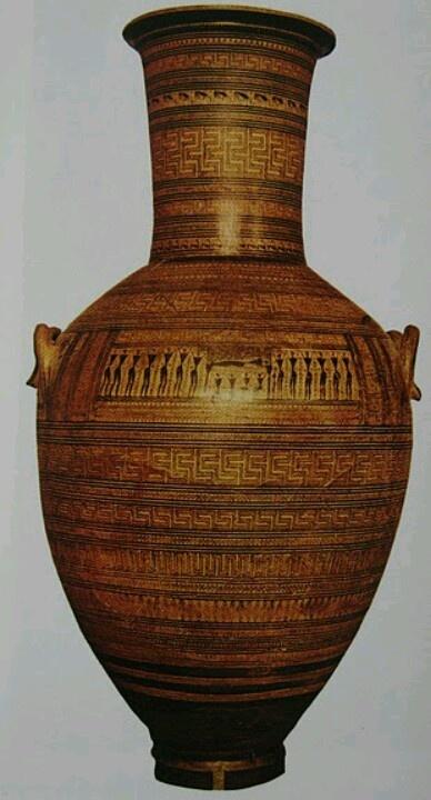 Gran Ánfora del Dípylon.(s.VIII a.C).Atenas. Estilo geométrico.Arte Griego.
