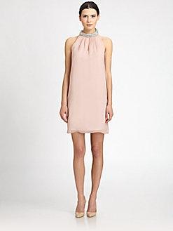 Diane von Furstenberg - Lainey Embellished Silk Dress