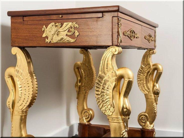 Empire stílusú antik bútor, konzolasztal