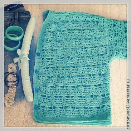 Кофты и свитера ручной работы. Ярмарка Мастеров - ручная работа Свободный кардиган из шерсти мятного цвета. Handmade.
