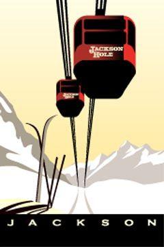 vintage look ski poster