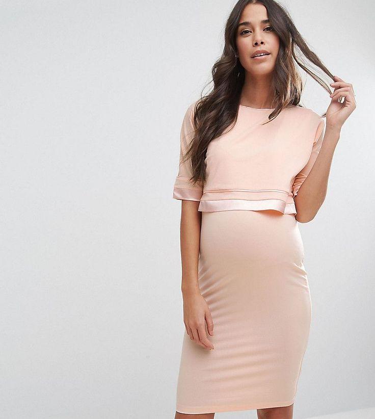 ASOS Maternity TALL NURSING Double Layer Dress - Pink
