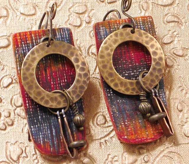Marrakesh earrings - polymer clay by Stories They Tell, via Flickr
