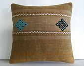 kilim pillows aztec rug bohemian tapestry geometric pillow cover turkish pillow cover large sofa cushions large floor cushions brown beige