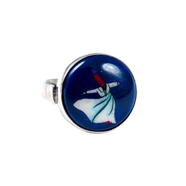 Inel argint și ceramică de Iznik, derviș I, Turcia