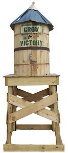 Rain barrel water tower design