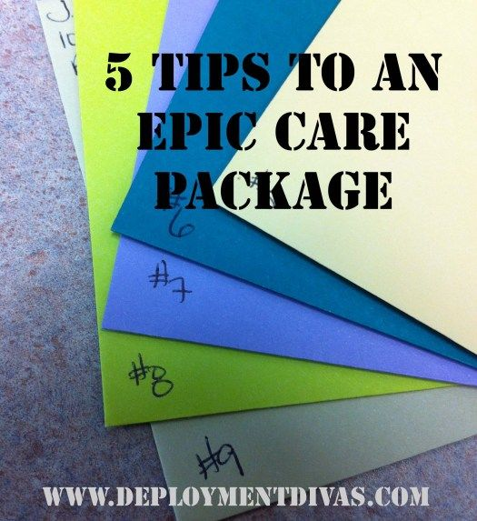 5 tips to make an epic military care package