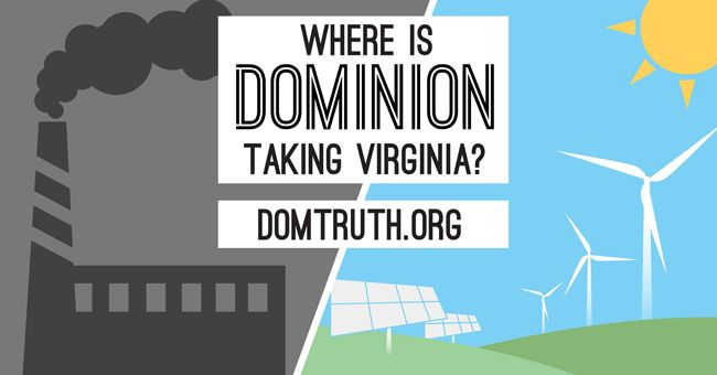Chesapeake Climate Action Network has launched a new website to expose the truth behind Dominion Power's greenwashing campaign. Photo credit: Chesapeake Climate Action Network
