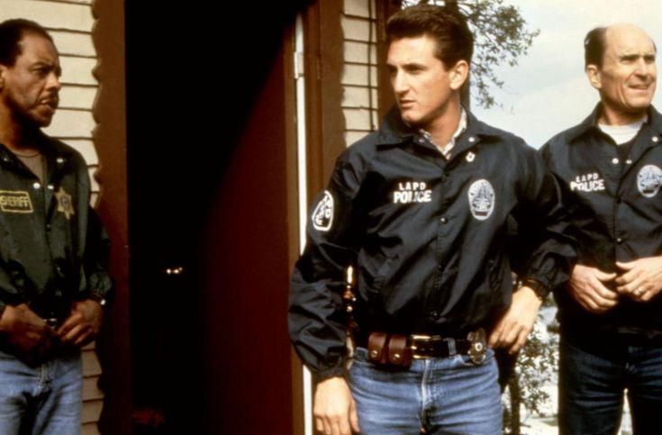 COLORS, Randy Brooks, Sean Penn, Robert Duvall, 1988,   Essential Film Stars, Sean Penn http://gay-themed-films.com/film-stars-sean-penn/
