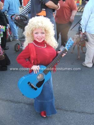 Homemade Dolly Parton Costume: Our Elementary School's Accelerated Reader theme was Famous Tenneseans. My daughter, aged 6, decided she'd like a Homemade Dolly Parton Costume.  We bought