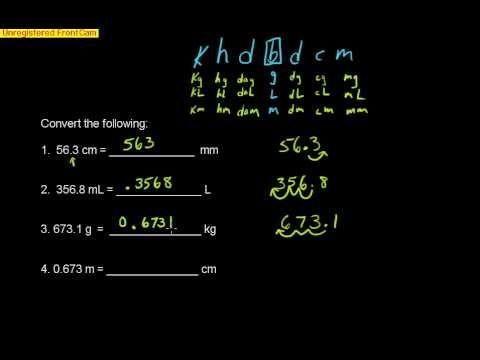 Easy method to convert metric measurements Part 1 - YouTube