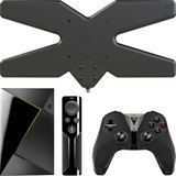 Nvidia - Shield TV 16GB Streaming Media Player & Mohu AIR 60 Outdoor Amplified HDTV Antenna Package