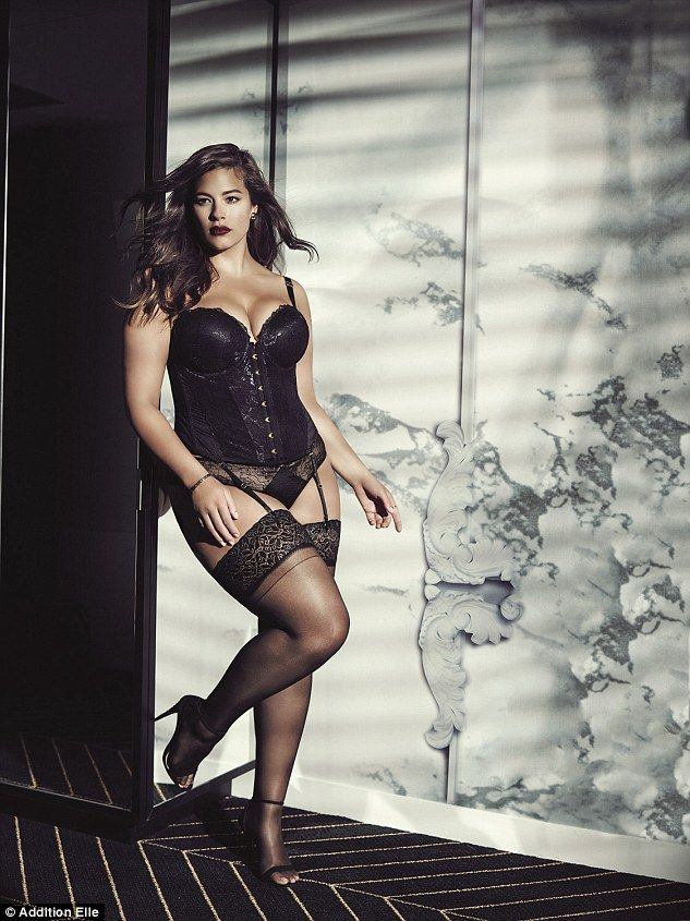 Size 16 Ashley Graham is celebrating the launch of her lingerie range landing in the UK by posing in an array of racy images