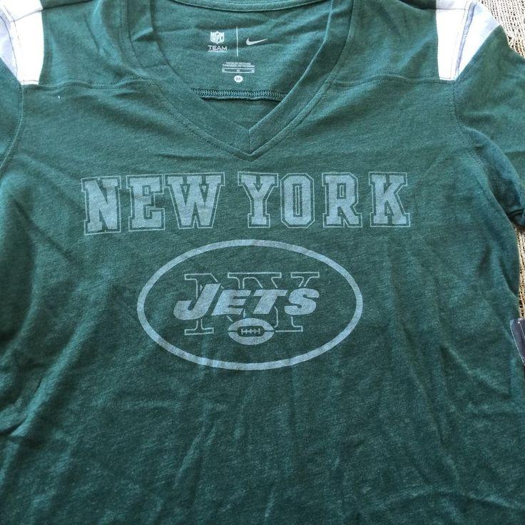 Womens Nike NFL Team Apparel New York Jets V Neck T Shirt NWT Retail $45  | eBay