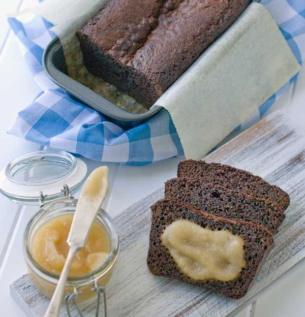 Gluten Free Fresh Ginger Bread with Quick Vanilla Pear Butter