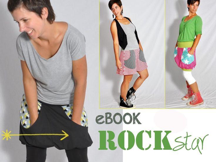 ROCKstar • Rock Minirock • Schnittmuster + Nähanleitung • DIY • leni pepunkt • easy • sewing pattern • skirt mini miniskirt