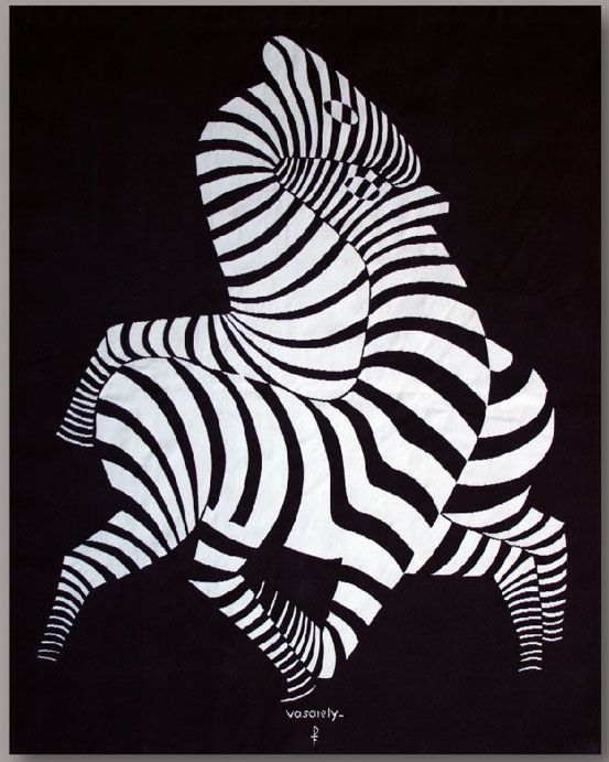 VASARELY tapestry, Les Zèbres 186x153 selected by RAFFAELE VEROLINO, Modena (I) #flashbackfair #exhibitors #turin #flashback16 #thenewsyncretism #allartiscontemporary