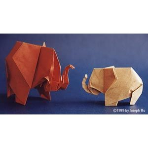 80 best paper paul jackson images on pinterest paul jackson origami elephants creator paul jackson modified by joseph wu fandeluxe Choice Image