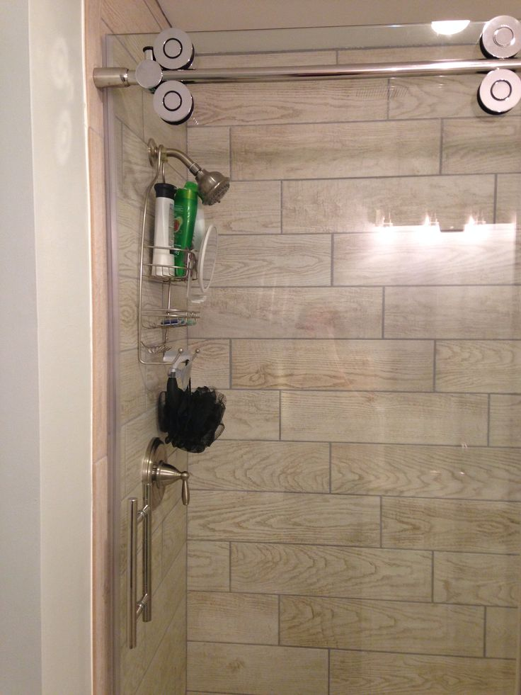 wood tile in shower stall marazzi home depot glass door is allen u0026 roth