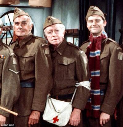 Arnold Ridley and other actors in Dad's Army .