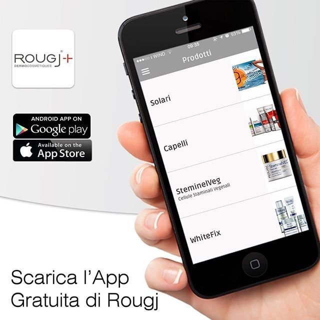 Scarica l'#App Rougj sul tuo cellulare!  Android: https://goo.gl/QwLB4c  iOS: https://goo.gl/QBrdMm