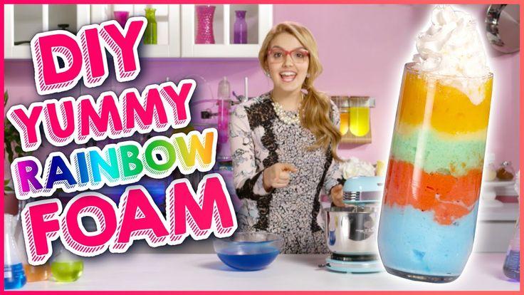 EDIBLE RAINBOW FOAM DIY!!! w/ Project Mc²