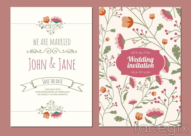461 best free vectors images on pinterest vector free vectors and cartoon flowers wedding invitations vector stopboris Images