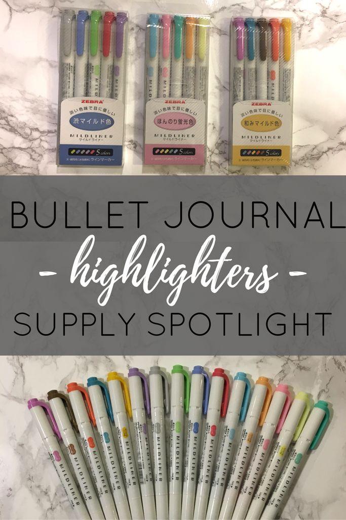 Bullet journal supply spotlight - highlighters!