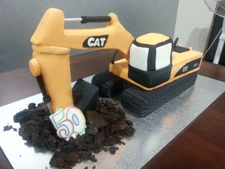 Excavator Cake Cakes Pinterest Excavator Cake And Cakes