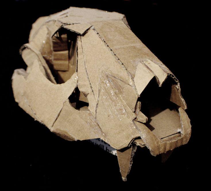 Deer Cardboard Skull Template