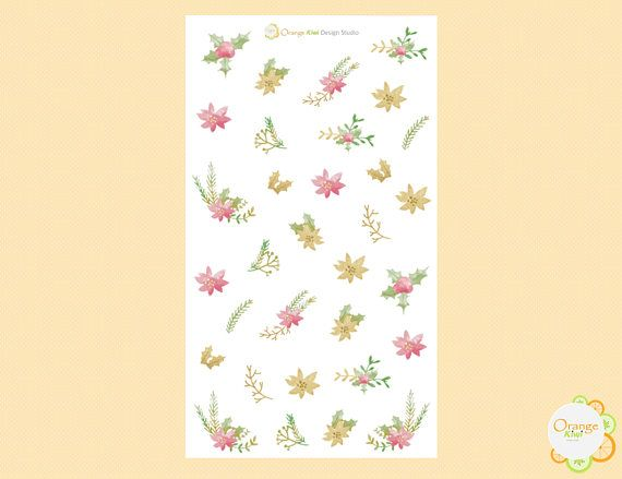 Winter Floral Winter Planner Stickers Floral Stickers Erin